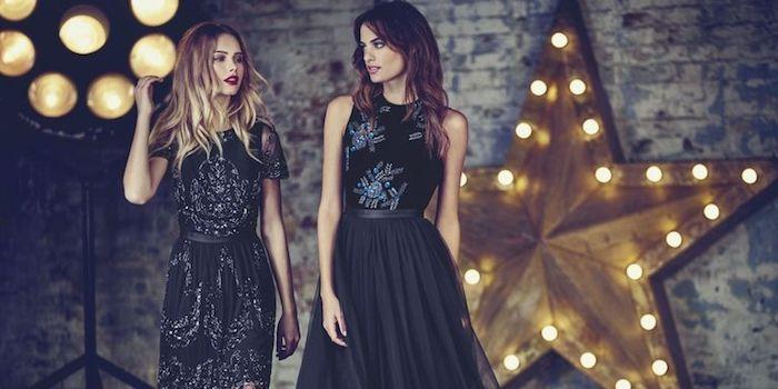 party outfit lässig schwarze kleider einfach zum stylen nur mehr make up ist nötig um einen perfekten look zu erzielen