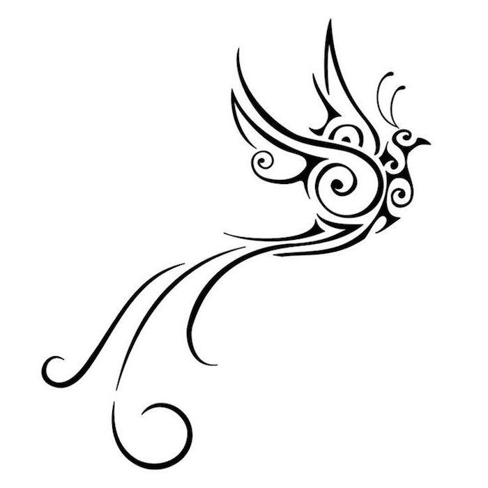 ein schwarzer fliegender phönix mit zwei schwarzen flügeln mit schwarzen federn - phönix bilder tattoo