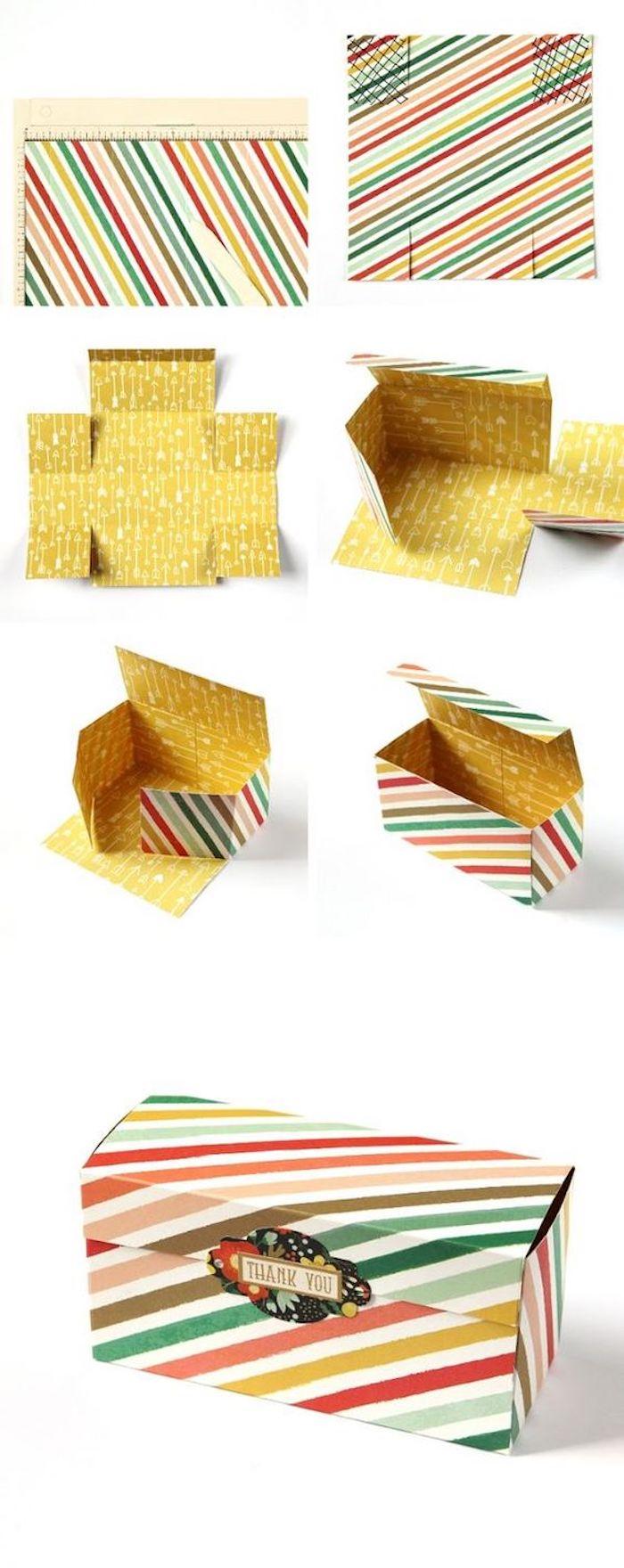 Pappschachteln - eine kleine Schachtel in vielen Farben selber falten - eine Anleitung