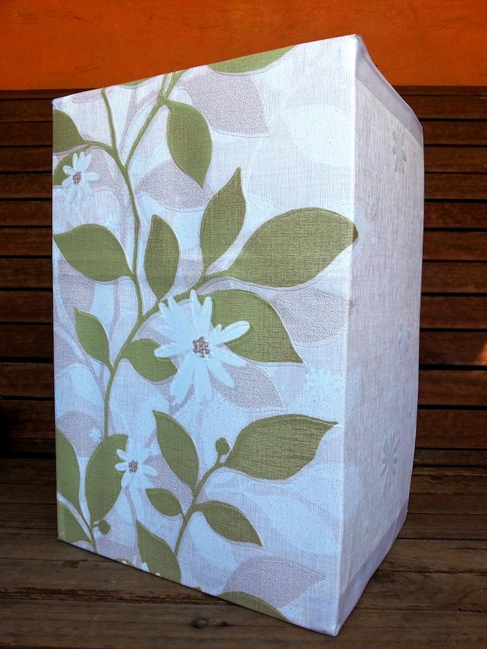 Pappschachteln DIY für ein Hochzeitsgeschenk - mit schönen Blumen-Mustern