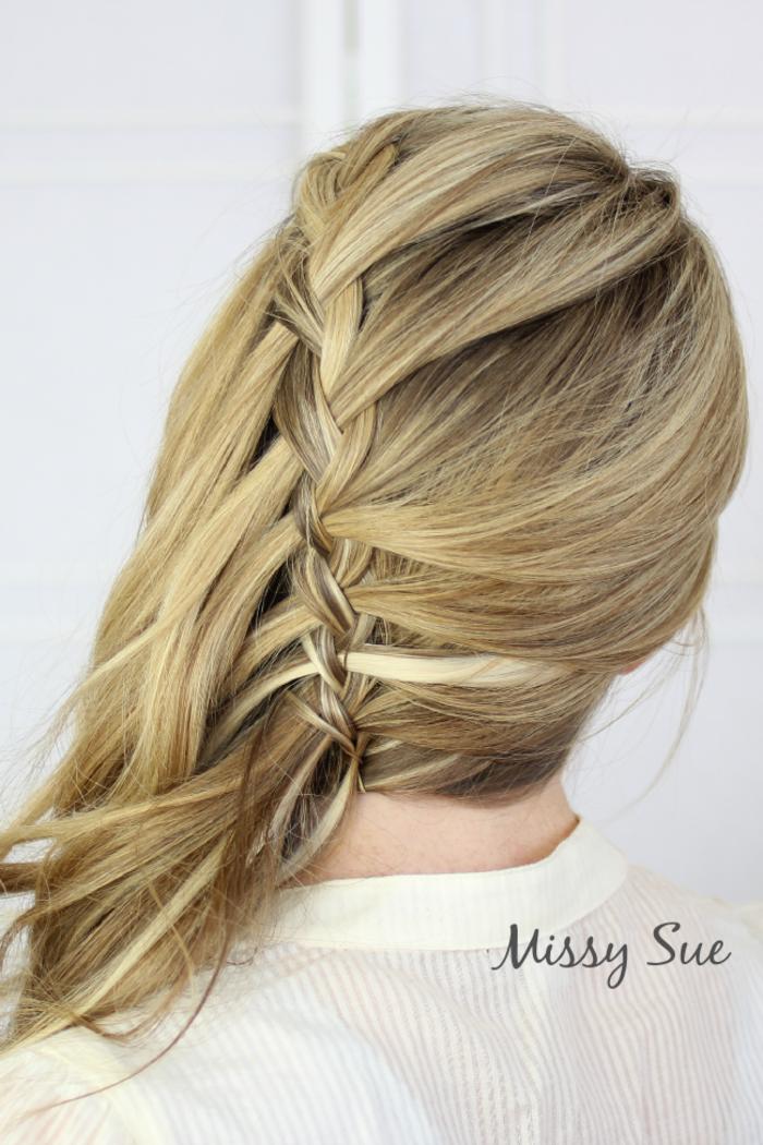 Elegante Flechtfrisur zum Nachstylen, einfach und schnell gemacht, für lange und mittellange Haare