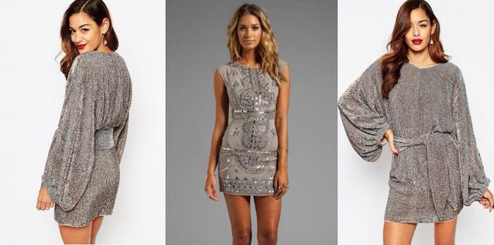 silvester outfit damen kurze kleider für damen mit schönen beinen silberne kleider drei varianten breites kleid mehr komfort eng chic