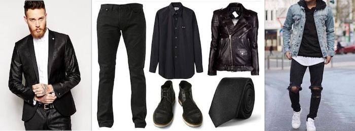 disco outfit mann mit bart lederjacke blazer oder jeansjacke cooler streetstyle zum nachmachen kreative männer chic