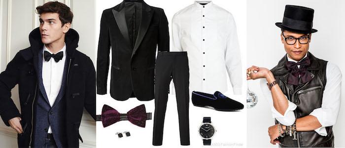 silvester outfit herren krawatte blazer hemd jacke hut accessoires für männer