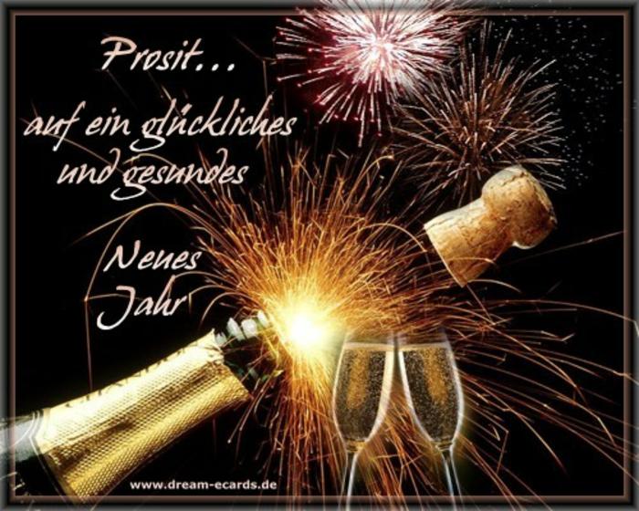 Prosit auf ein glückliches und gesundes neues Jahr