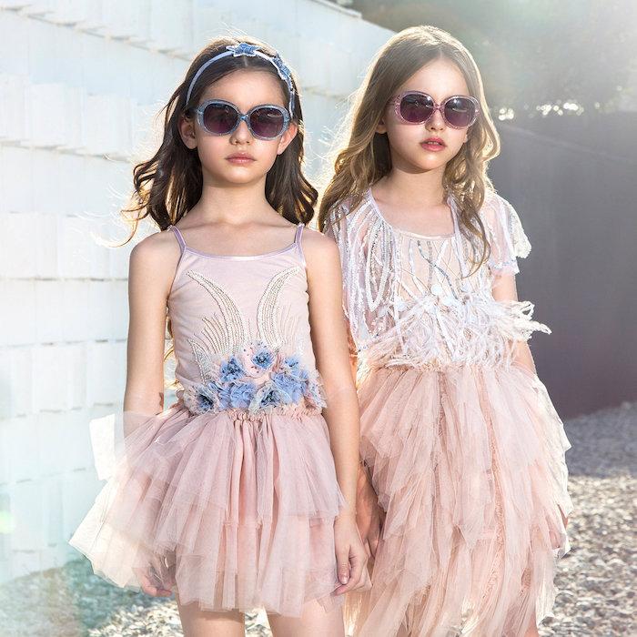 boho kleid zwei kleine prinzessinnen models mädchen tutu tragen fashion für kinder 2018 ideen