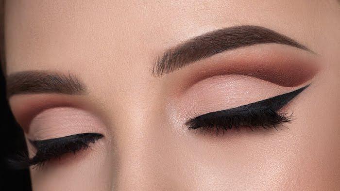 augen make up anleitung, augen konturieren, abend make-up