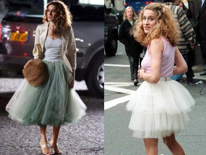ballett trikot mintgrün oder weiß mit welchem outfit gefällt ihnen carrie besser film inspirierte looks