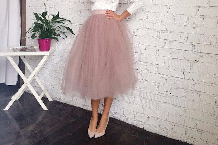 3772448d0c5535 ▷ 1001 + Ideen für bohemian Style Outfit mit Ballett Tutu für Frauen
