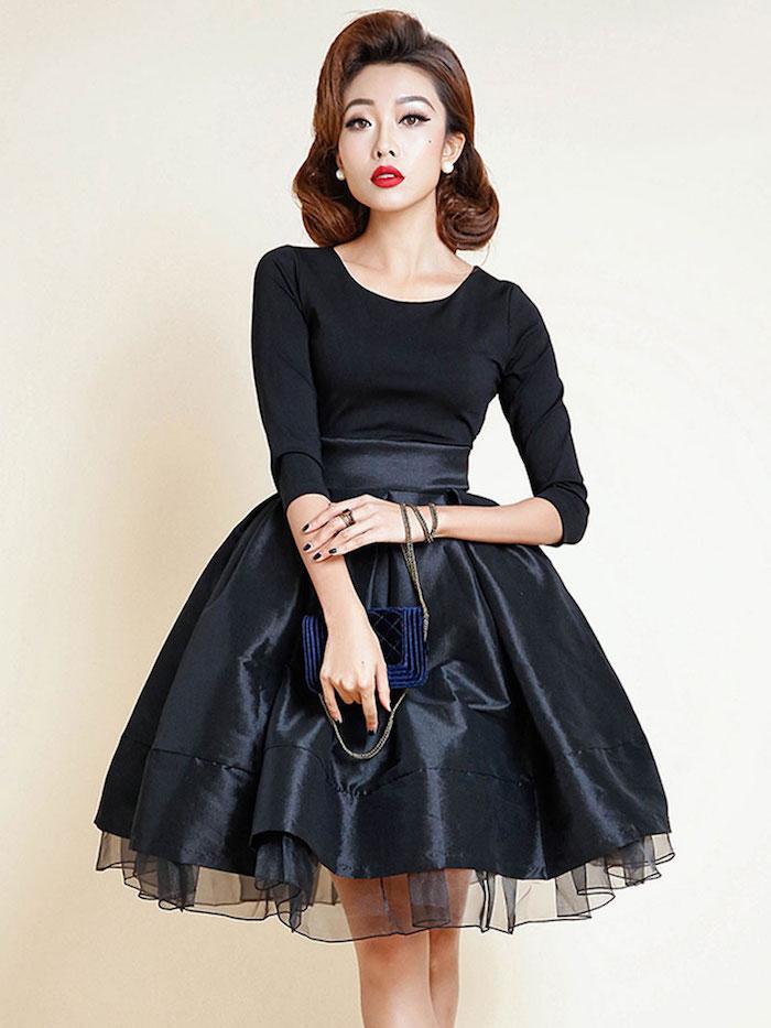 bohemian chic trendy idee in schwarz die stilvollste farbe dunkel aber klasse elegante dame schöne frisur