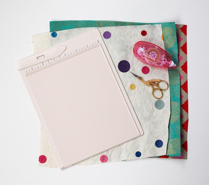 Briefumschlag selber machen - mit Nähen einen Umschlag zusammenstellen