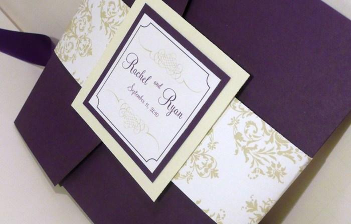 eine Einladung zur Hochzeit in einem schönen selbstgebastelten Brief