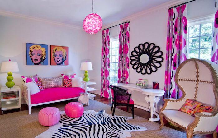 grau weißes zimmer rosa ideen rosa zimmergestaltung sofa sessel zebra print spiegel an der wand merilzn bilder
