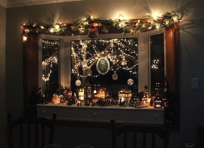 fensterdeko weihnachten basteln leuchtende dekorationen an dem fenster schöne lichter