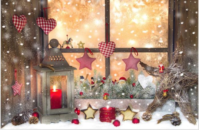 led fensterbilder weihnachten sterne herzen kerze deko ideen schnee schneeflocken