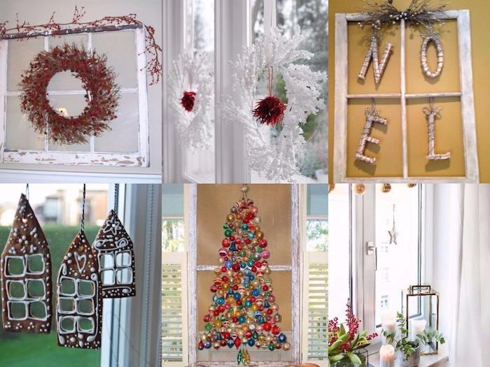 fenster deko ideen kranz weihnachtsbälle deko ideen pläzchen hängend an dem fenster schöne ideen inspiration