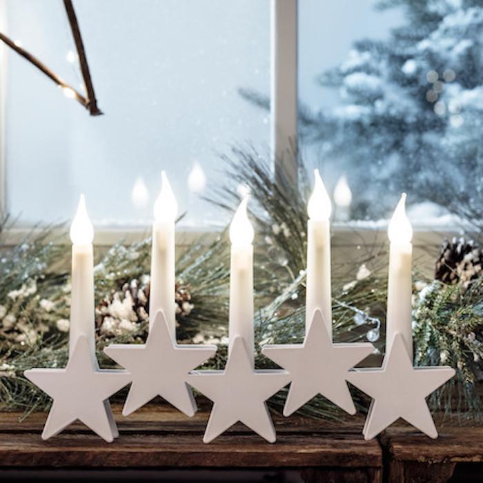 fenster deko ideen mit led kerzen keine gefahr mehr leuchtende dekorationen sterne kerzenhalter