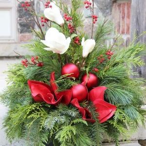 Weihnachtsgestecke - basteln Sie zauberhafte Weihnachtsdeko