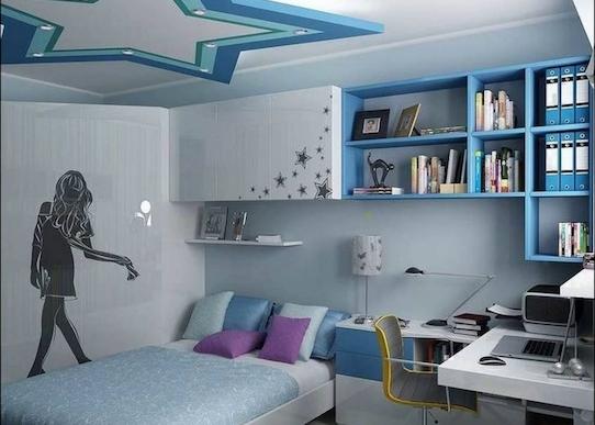 jugendzimmer möbel in blau regale und schubladen mädchenzimmer in blau warum nicht - teenager mädchen ideen kreativ
