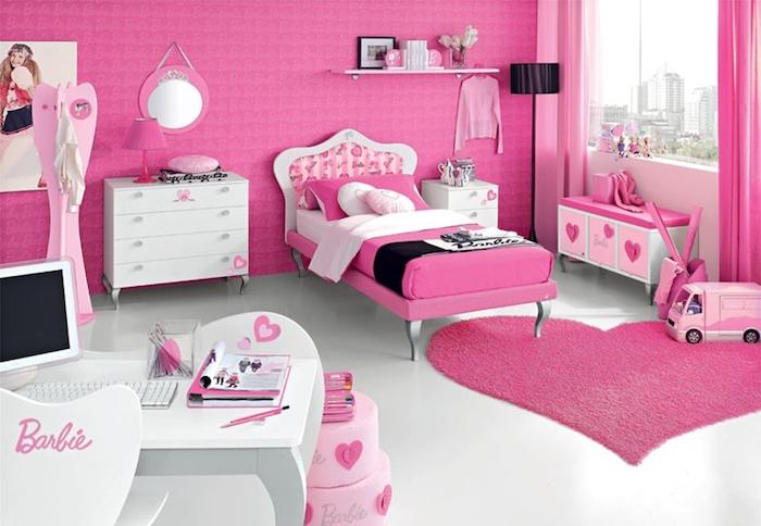 jugendzimmer ideen barbie style mädchenzimmer alles rosa und weiß wilkommen in der welt von einer wahren barbie