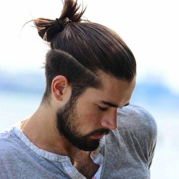 langhaarfrisuren männer, lange haare hochstecken, männerfrisuren
