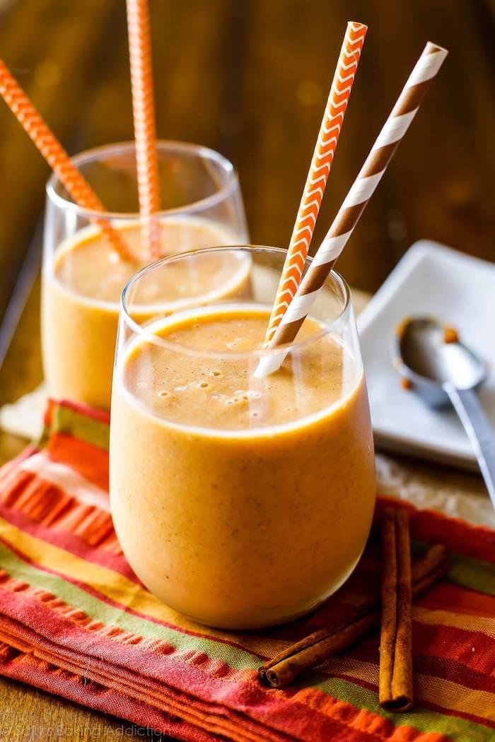 protein shake selber machen, eiweißshakes mit kürbis und zimt
