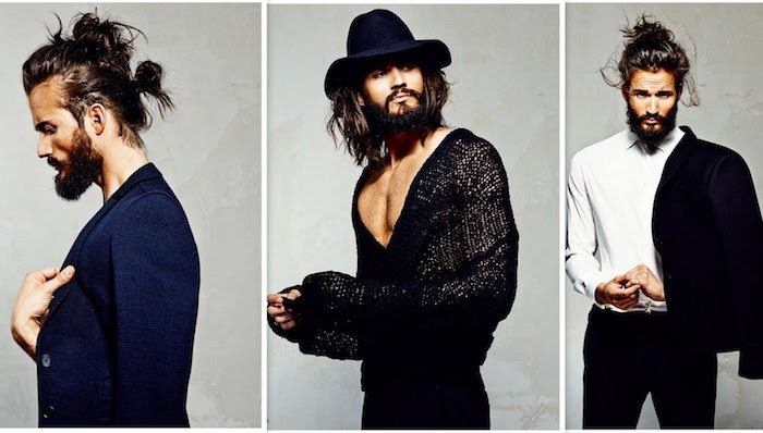 frisuren für lange haare, männer outfits 2018, schwarzer anzug in kombination mit weißem hemd