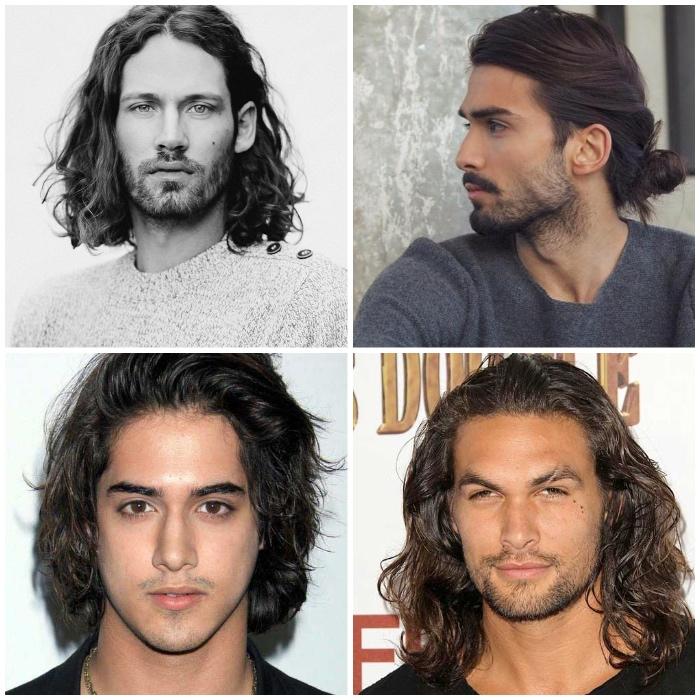 frisuren für lange haare, männer mit langen lockigen haaren, männerfrisuren