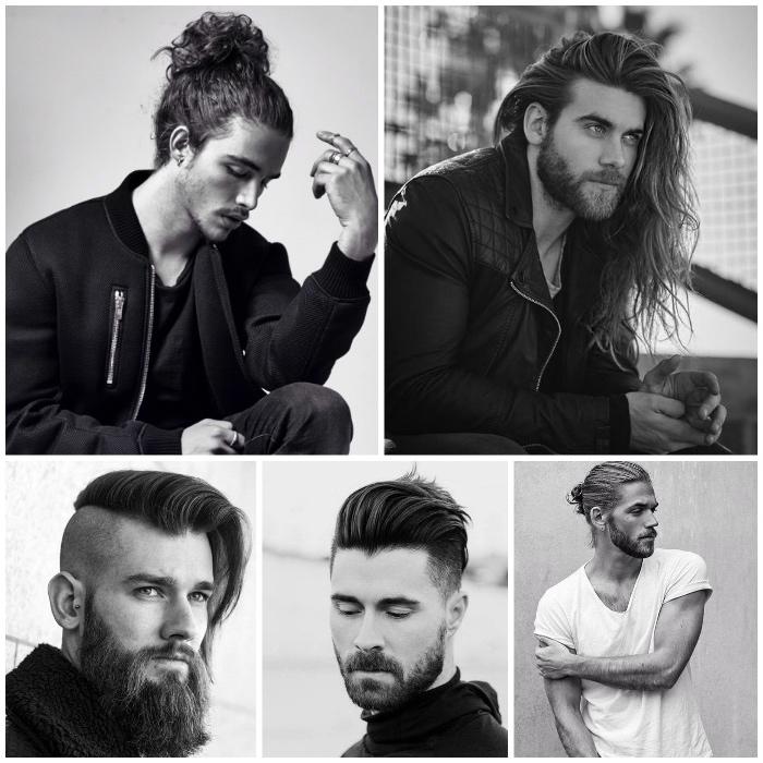langhaarfrisuren männer, männerfrisuren für lange haare, dutt-frisur