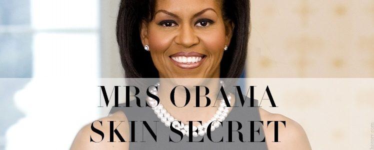 das Geheimnis von Michelle Obama für immer glänzende Haut