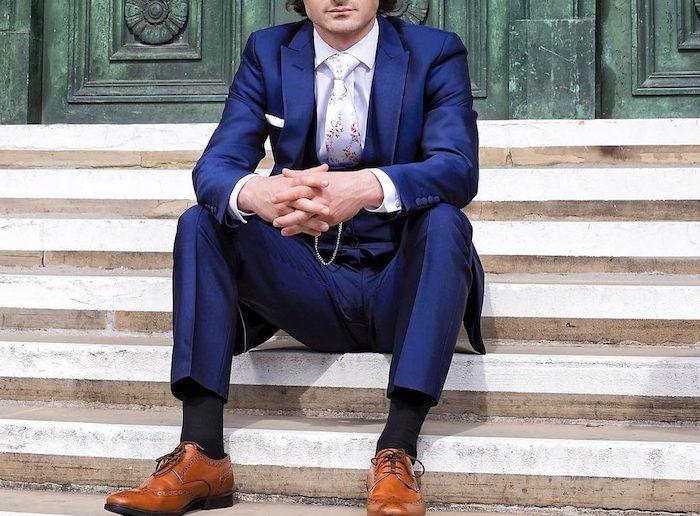 hot sale online f425e df7e7 ▷ 1001 + Ideen wie blauer Anzug, braune Schuhe und passende ...
