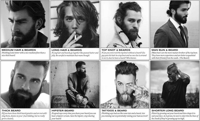 männer mit bart acht gestaltungen männer mit verschiedenen arten von bart ideen zum stylen moderne männer von heute