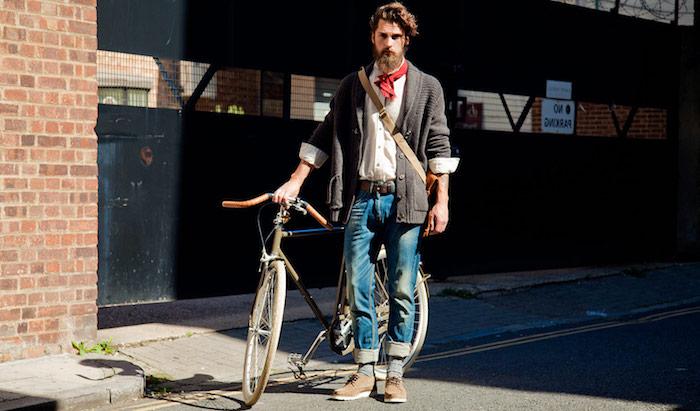 bart wachsen lassen ideen f[r hipster der mann von der gro-en stadt rad fahren bequeme kleider tragen stzlish und praktisch