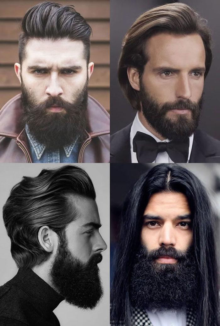 Bartfrisur nach Gesichtsform und Haarstruktur auswählen, Barttypen kombiniert mit langen und mittellangen Haaren