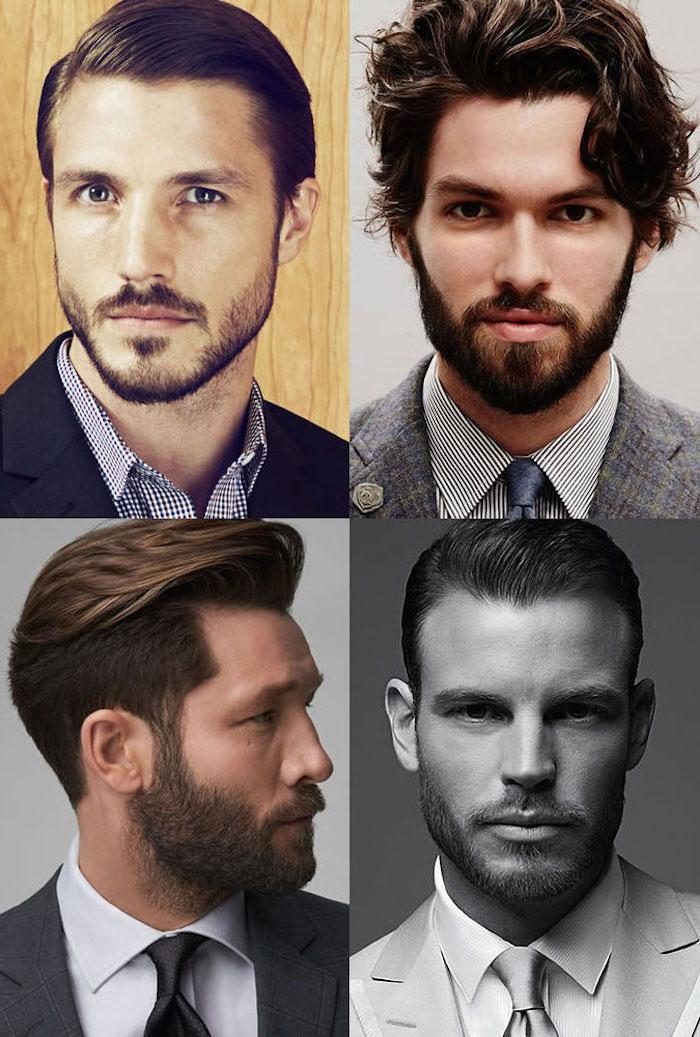 Kinnbart Typ auswählen nach Gesichtsform und Haarstruktur, coole mittellange Haarfrisuren für Männer