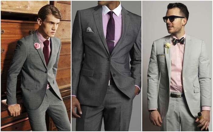 graue hose outfit ideen zum inspirieren und erstaunen stil idee zum entlehnen rosa hemd mit krawatte oder fliege