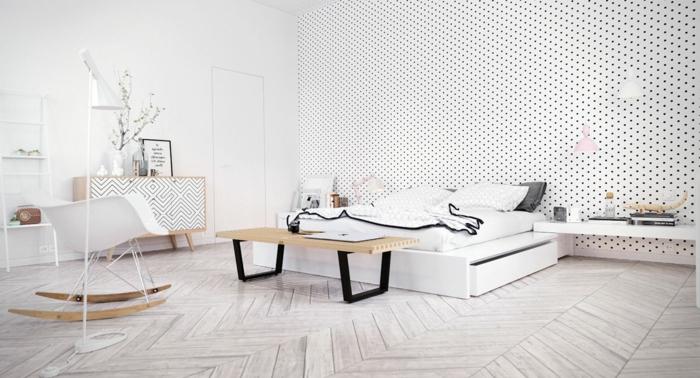 1001 ideen f r skandinavische schlafzimmer einrichtung for Schaukelstuhl skandinavisch