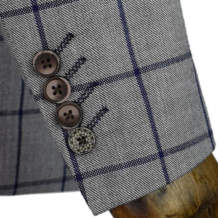 dunkelblauer anzug oder grauer anzug mit dunkelblauen elementen braune knöpfe ideen grau blau stil
