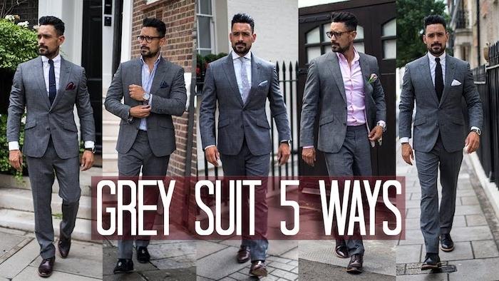 hemd mit krawatte und grauer anzug verschiedene nuancen des grauen styling ideen hemd farben krawatten