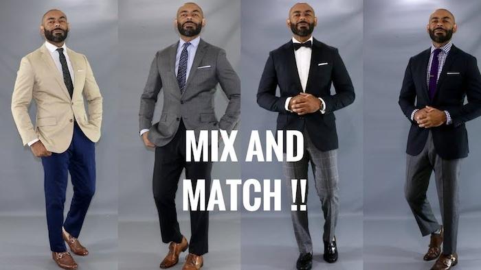 karohemd kombinieren vier outfit ideen für kombinationen beige grau blau schwarz krawatte oder fliege