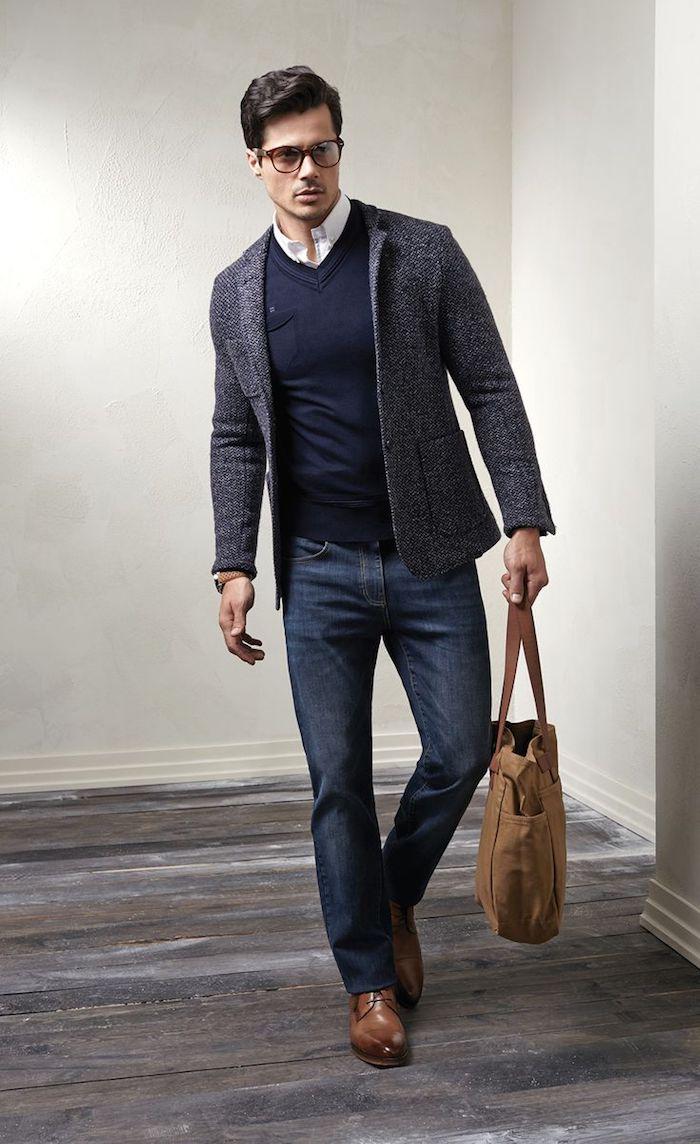 1001 ideen wie blauer anzug braune schuhe und passende. Black Bedroom Furniture Sets. Home Design Ideas