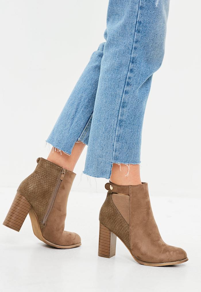braune schuhe damen mode für frauen casual jeans mit stiefel blau mit braun trendy looks von damen