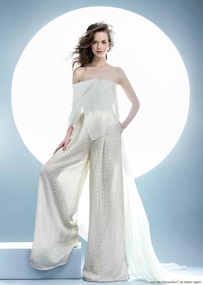Gemütlich Frauen Weißen Kleid Anzug Hochzeit Galerie - Brautkleider ...