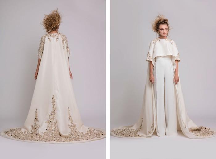 elegantes design von einem overall damen elegant mit goldenen elementen designer idee