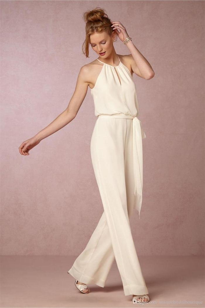 weiße bekleidung für frauen overall damen elegant breites design schönes modell model