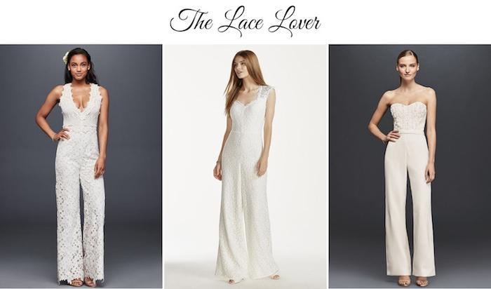 drein modelle von hosenanzug damen hochzeit spitze deko ideen damen mode modernes outfit in weiß