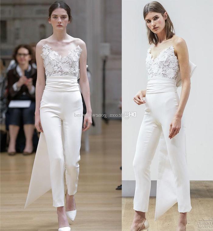 spitze mode design hosenanzug damen hochzeit spitze ideen zum stylen mode für damen modernes outfit