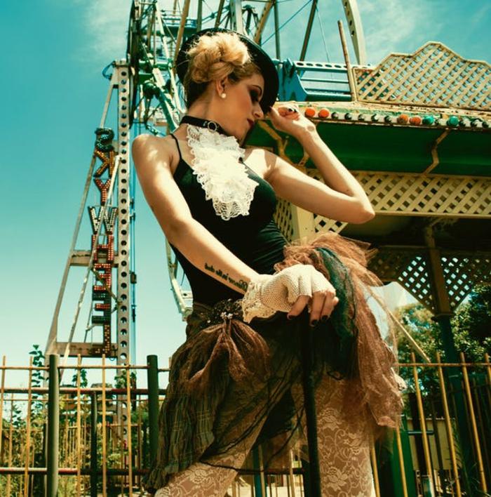 ein vintage Kostüm aus alten Klamotten.q Last Minute Kostüm Fasching