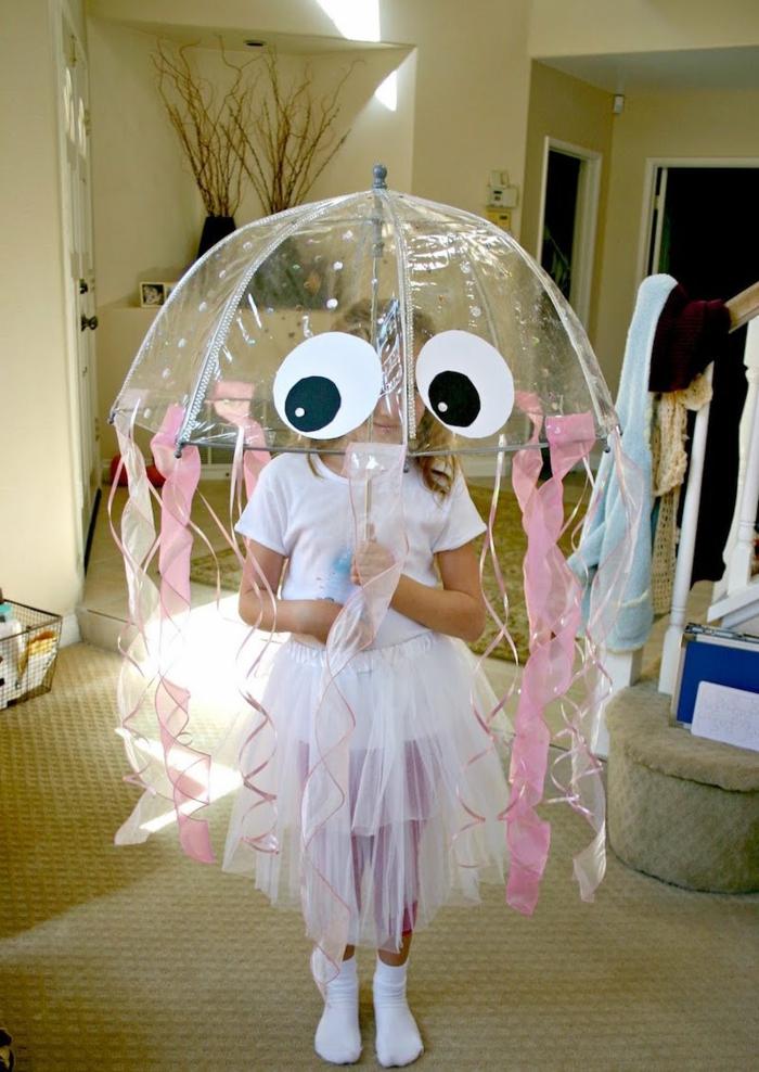 wenn Sie keine Zeit haben und schnelles Kostüm anfertigen sollen, entscheiden Sie sich für eine Qualle