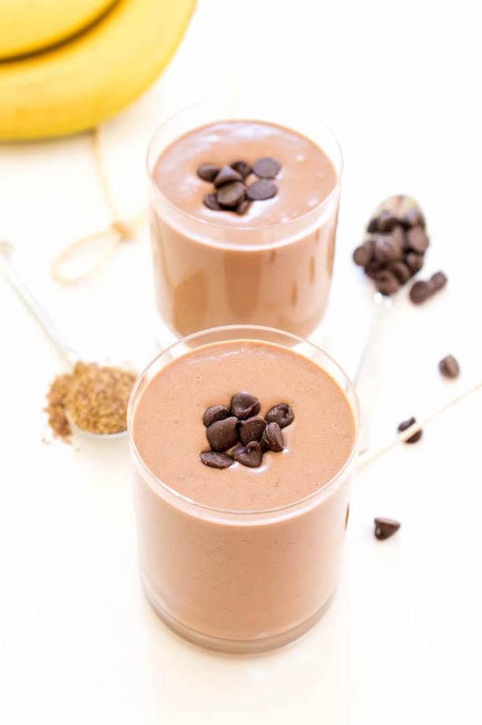 eiweißshake rezept, eiweßgetränke mit kakao zum zunehmen